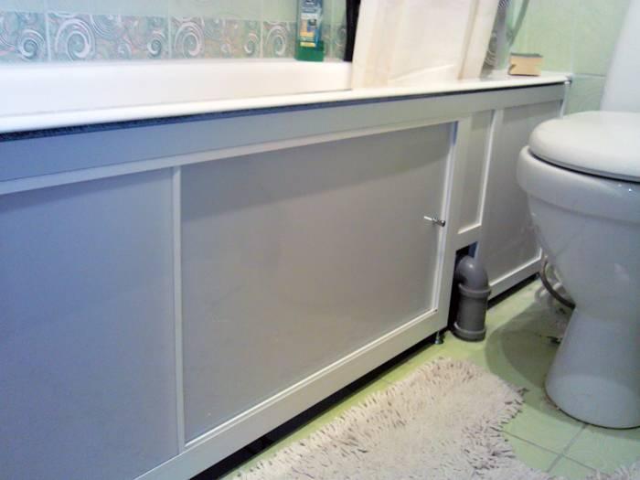 Выбор и установка экрана под ванну своими руками — как все сделать функционально и эстетично?