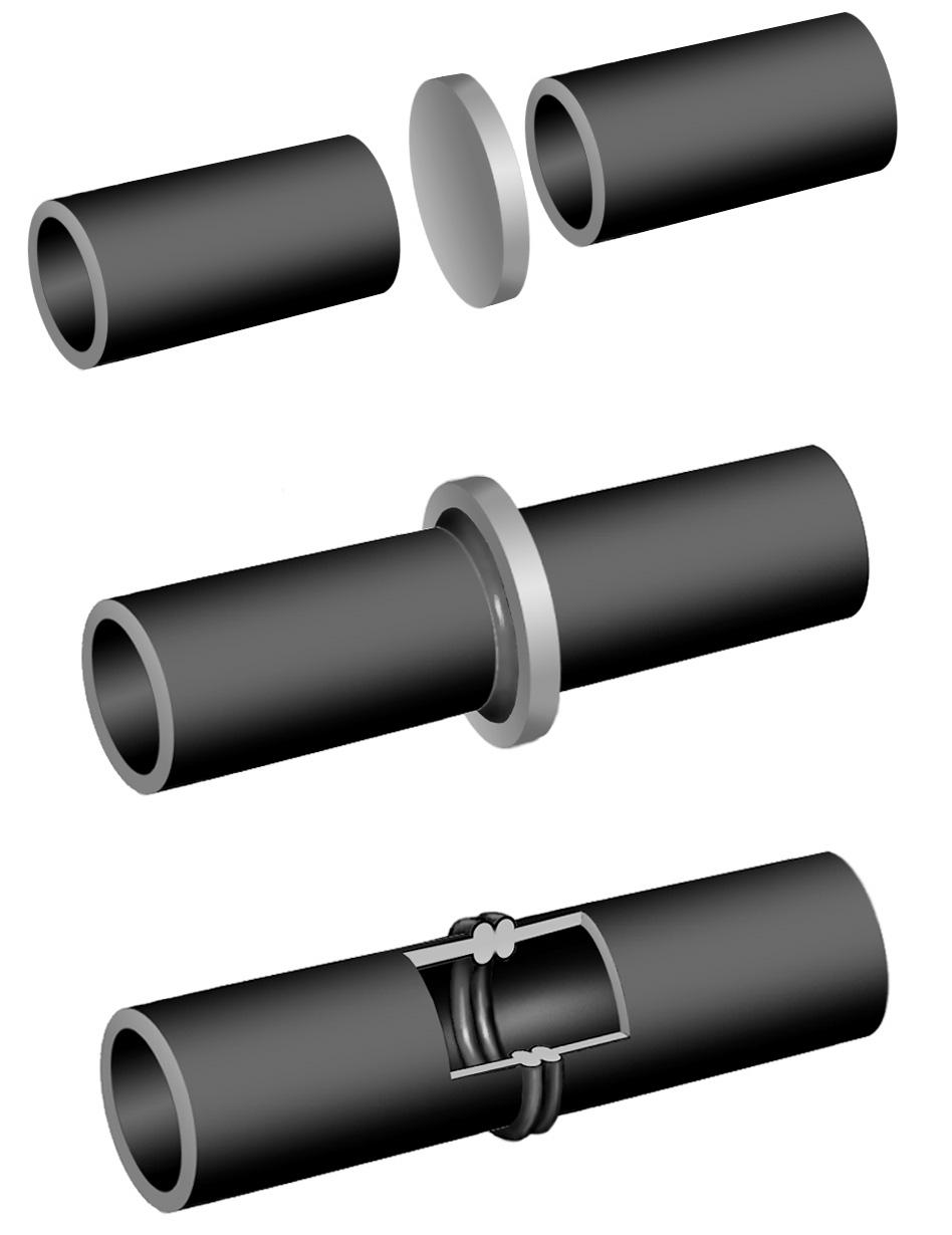 Муфты для соединения полиэтиленовых труб – 3 способа монтажа пластикового трубопровода