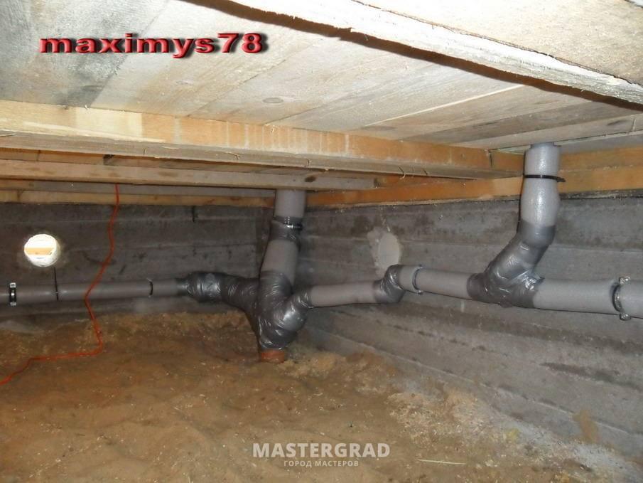Разводка канализации в частном доме: расчет и монтаж