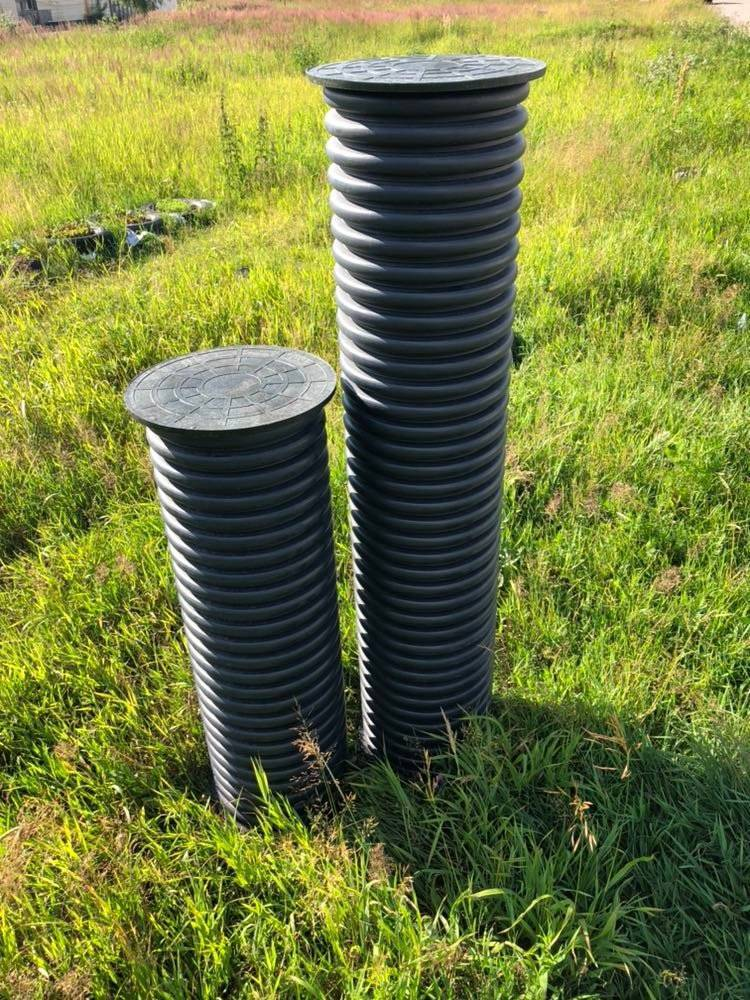 Дренажный колодец — пластиковый, из бетонных колец и покрышек