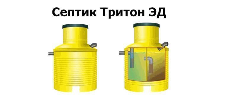 Септик тритон для дома и дачи, модельный ряд, порядок установки