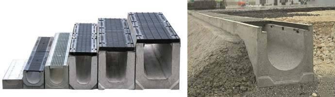 Устройство бетонных лотков — разбираемся в сути