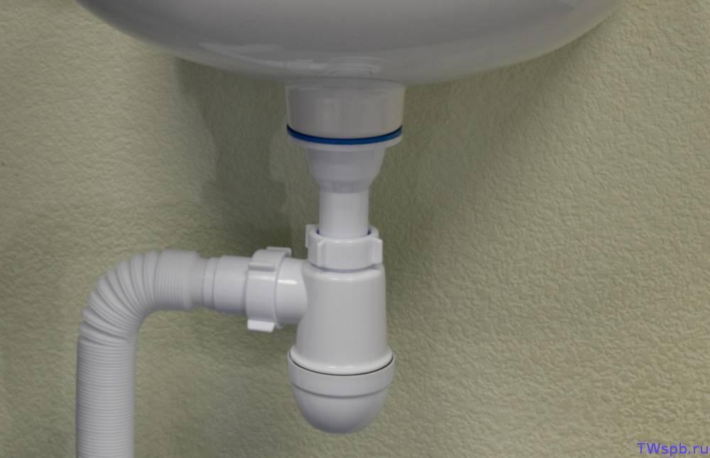 Как собрать сифон для раковины на кухне: установка слива, подключение к канализации
