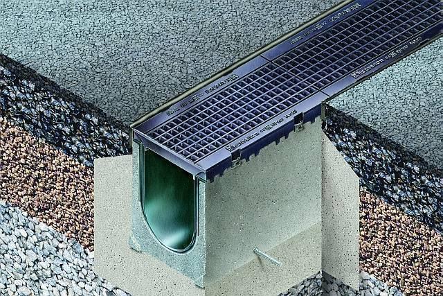 Виды и особенности бетонных лотков для ливневой канализации