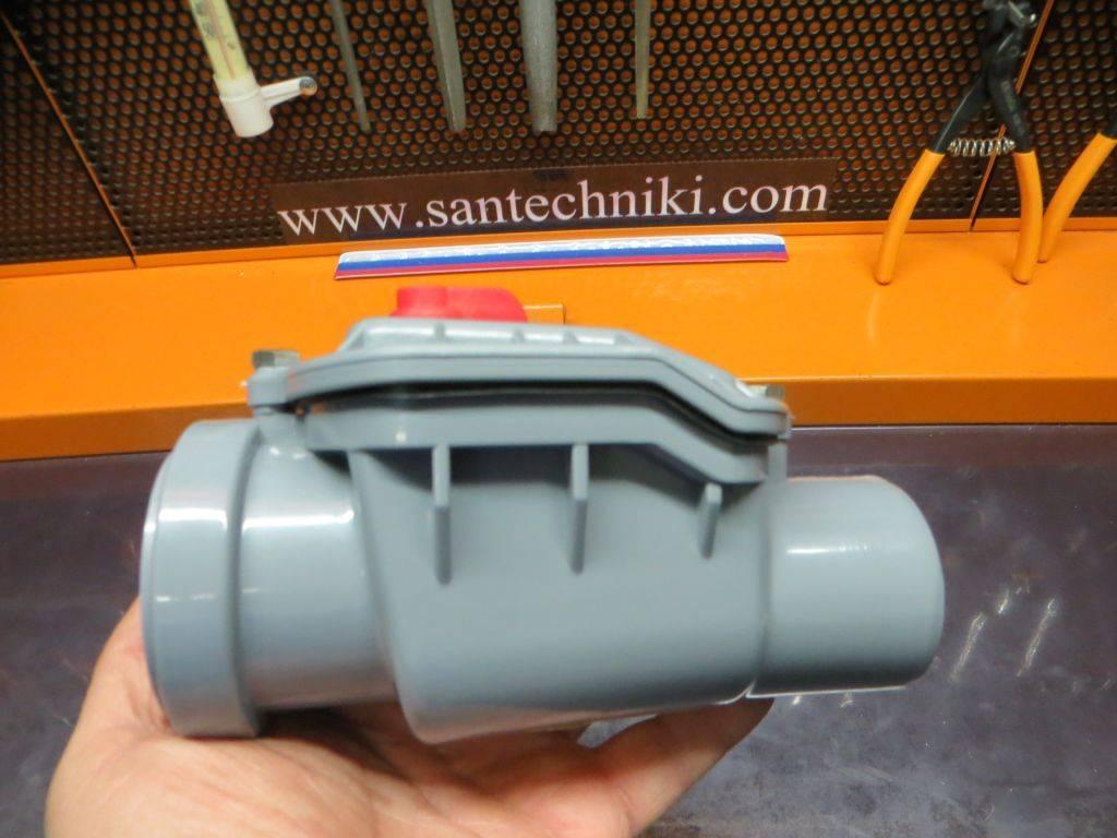Установка обратного клапана на канализацию своими руками