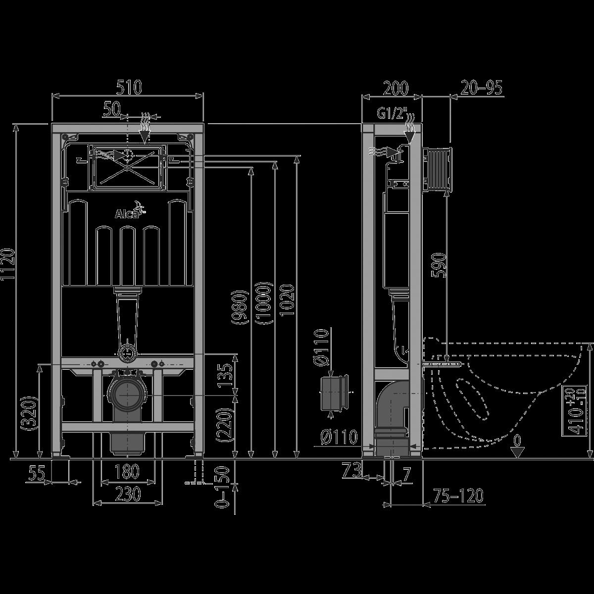 Монтаж инсталляции унитаза, учитывая высоту и ширину конструкции: Обзор +Видео