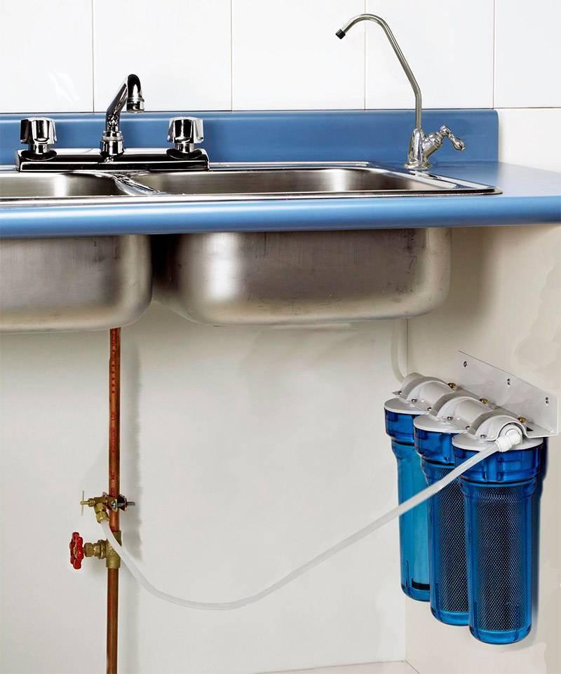 Установка фильтра для воды под мойку в москве и московской области
