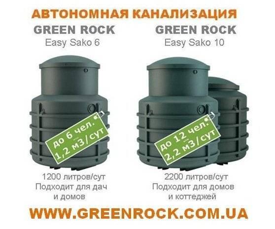 Green rock септик: преимущества, установка и эксплуатация green rock iisi для загородного дома