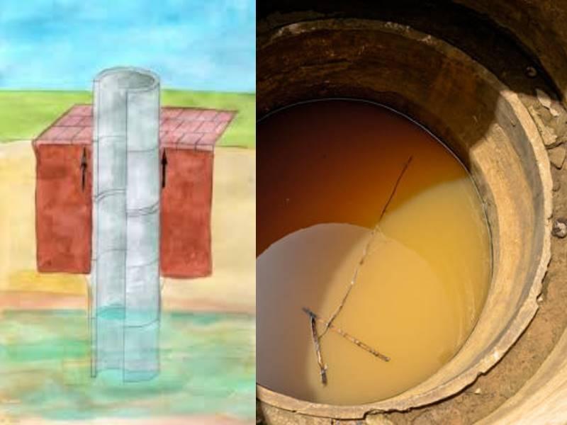 Как сделать глиняный замок для колодца из бетонных колец