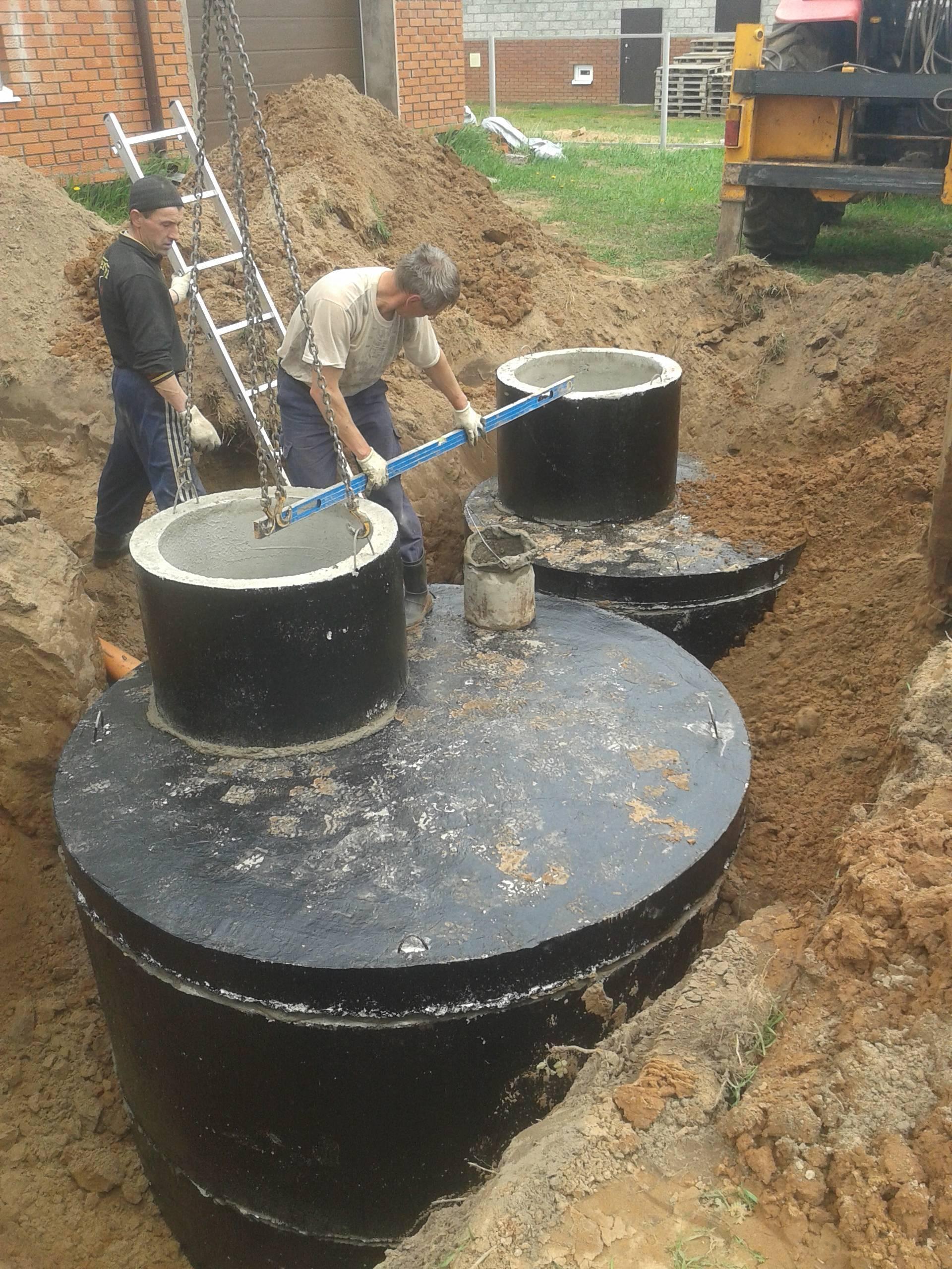 Как изготовить септик из бетонных колец – 6 этапов строительства автономной канализации