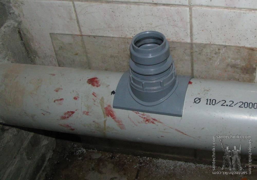 Врезка в канализационную трубу: чугунную, пластиковую + фото, видео