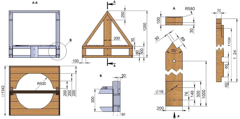 Домик для колодца своими руками: чертежи, размеры, фото, видео