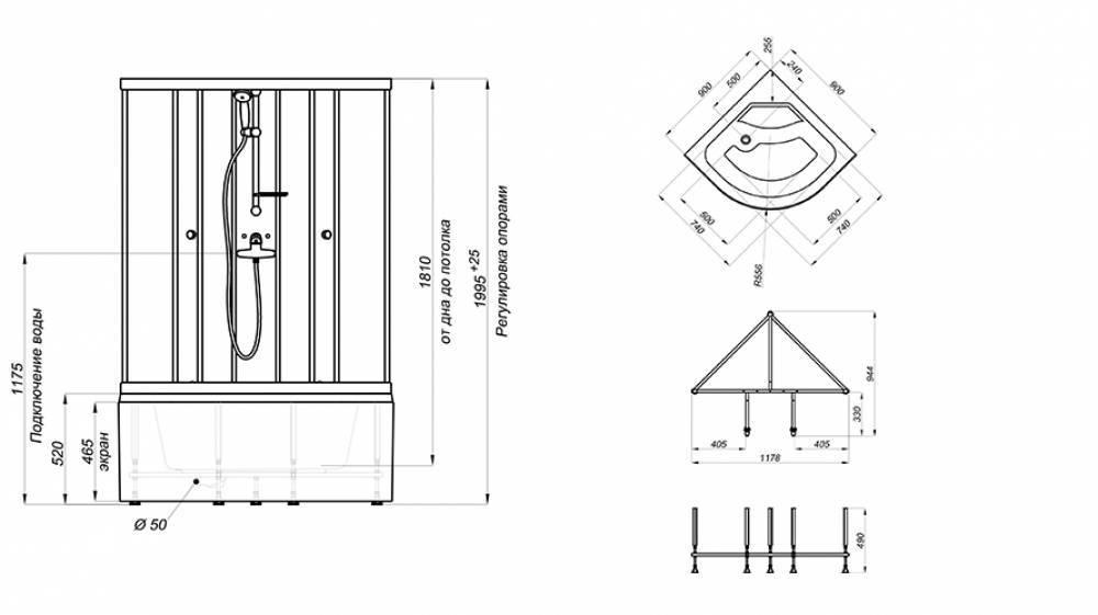 Какие бывают поддоны для душевой кабины: формы, размеры и стоимость