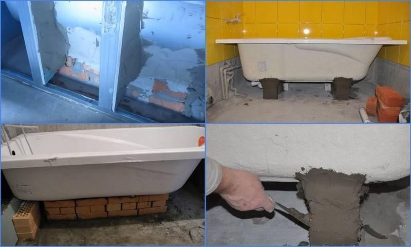 Как установить акриловую ванну своими руками: правила монтажа и инструкция