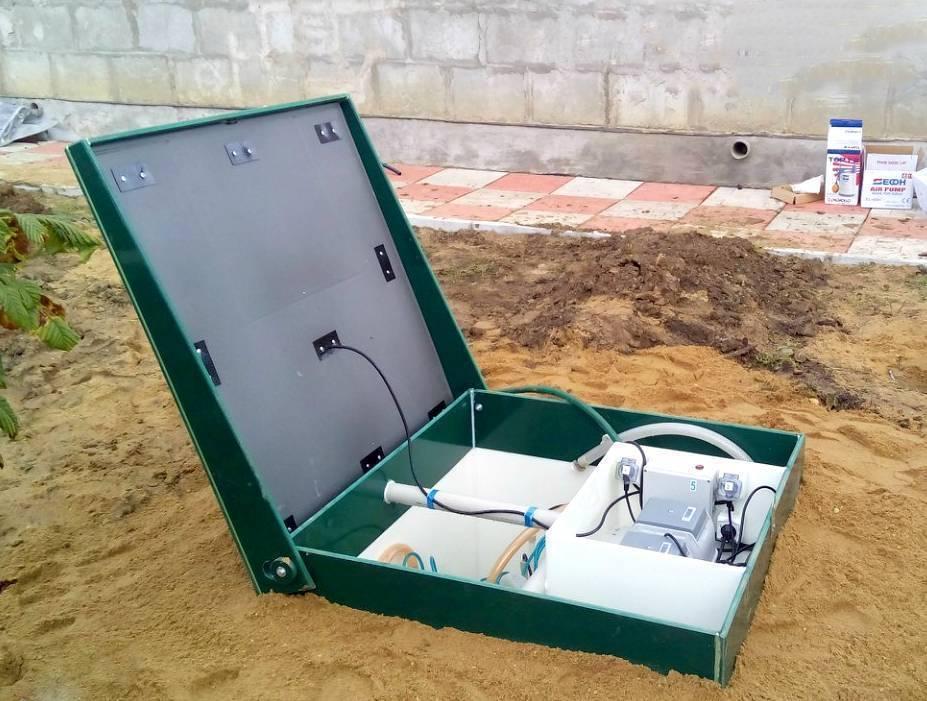 Монтаж септика юбас для очистки канализационных вод