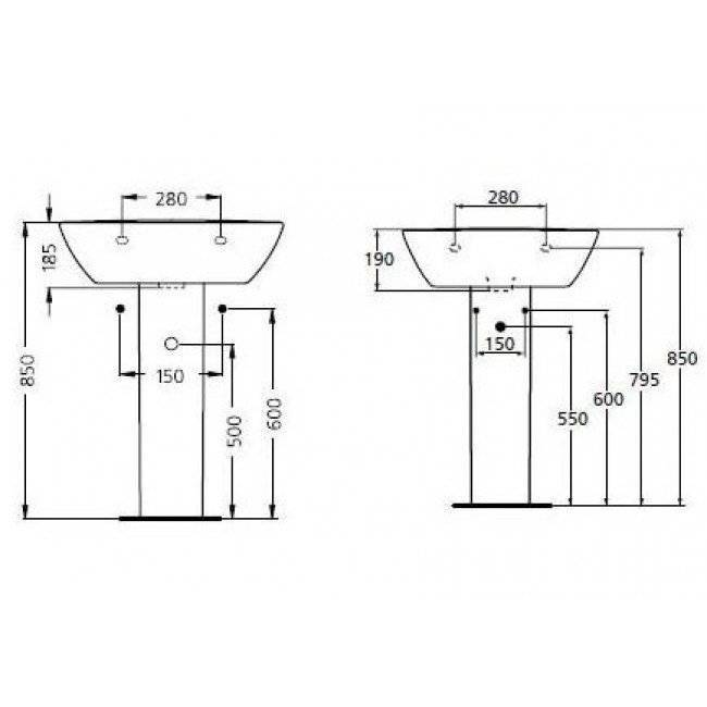 Размер тумбы под раковину в ванной - все о канализации
