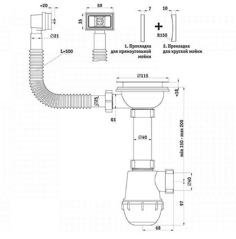 Как собрать сифон для раковины на кухне и в ванной: устройство, принцип действия и правильная установка схемы своими руками