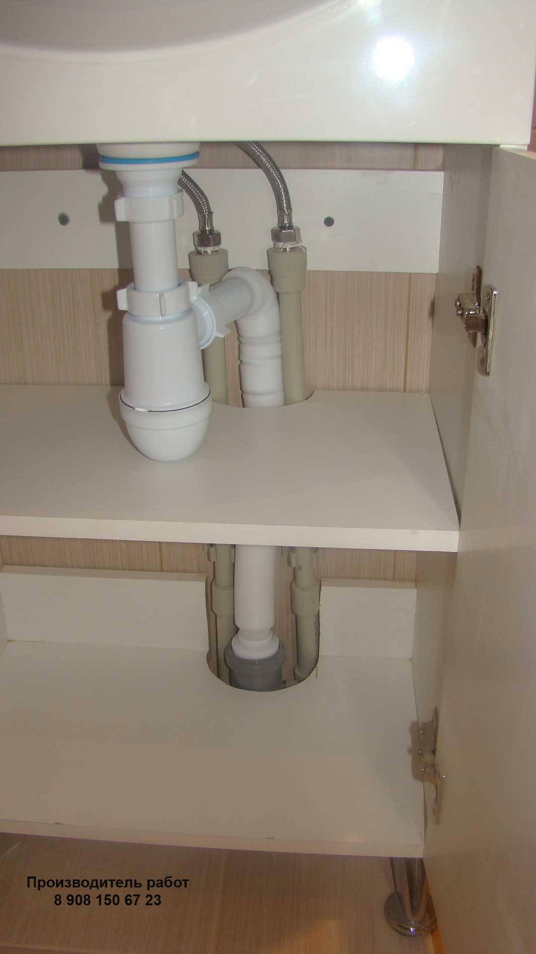 Как подключить раковину в ванной: особенности монтажных работ- Обзор +Видео