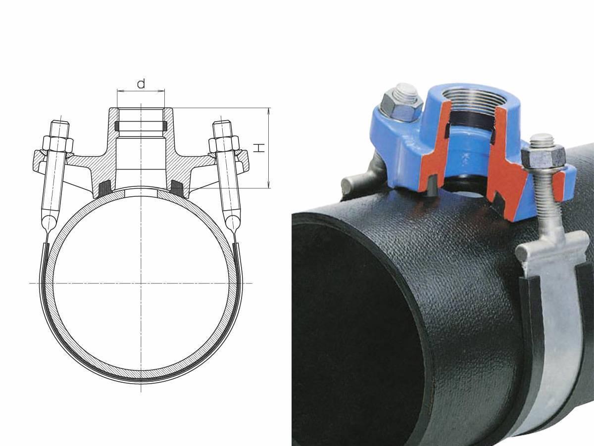 Как поставить хомут на трубу отопления? - об отоплении дома и квартиры