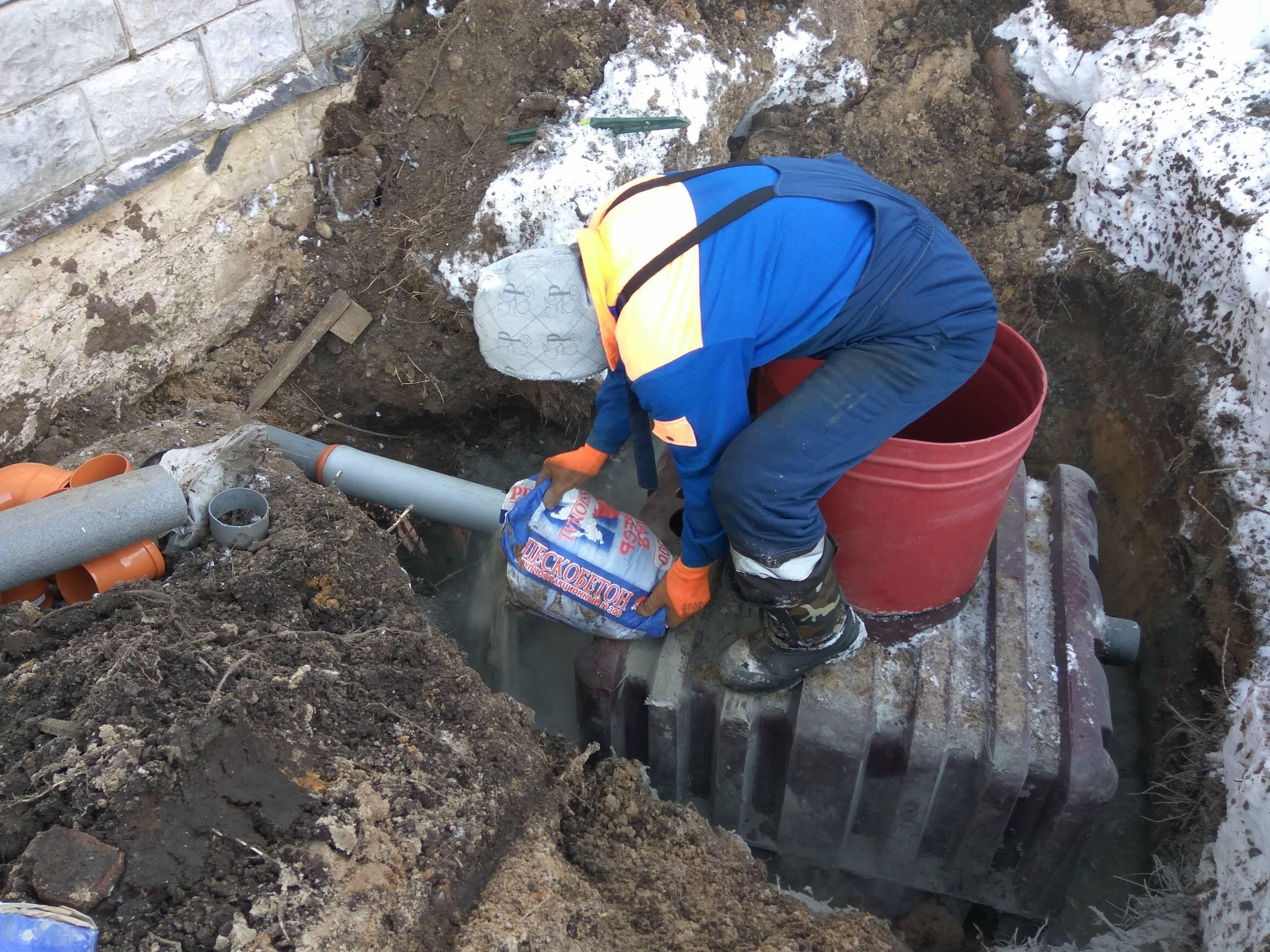 Установка септика зимой - как установить септик в зимнее время