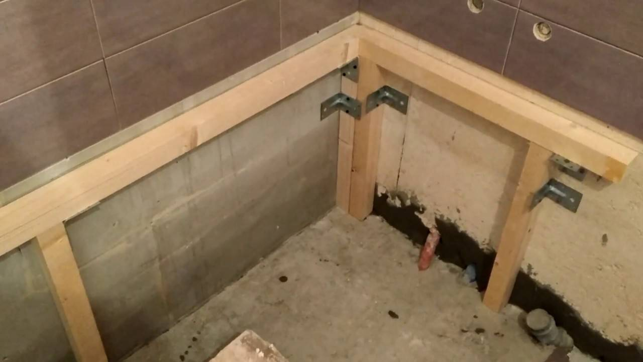 Установка акриловой ванны на каркасе своими руками: пошаговая инструкция