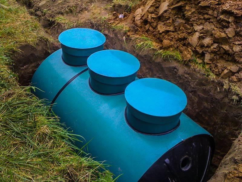 Как установить емкость для канализации