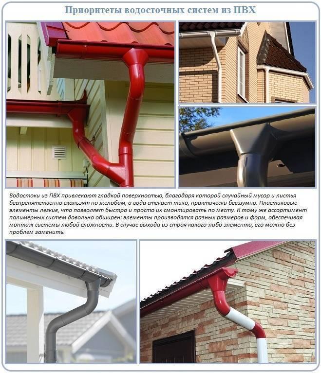 Пластиковые водостоки для крыши – комплектация и монтаж
