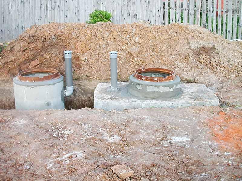 Монолитный бетонный септик | септик  сервис