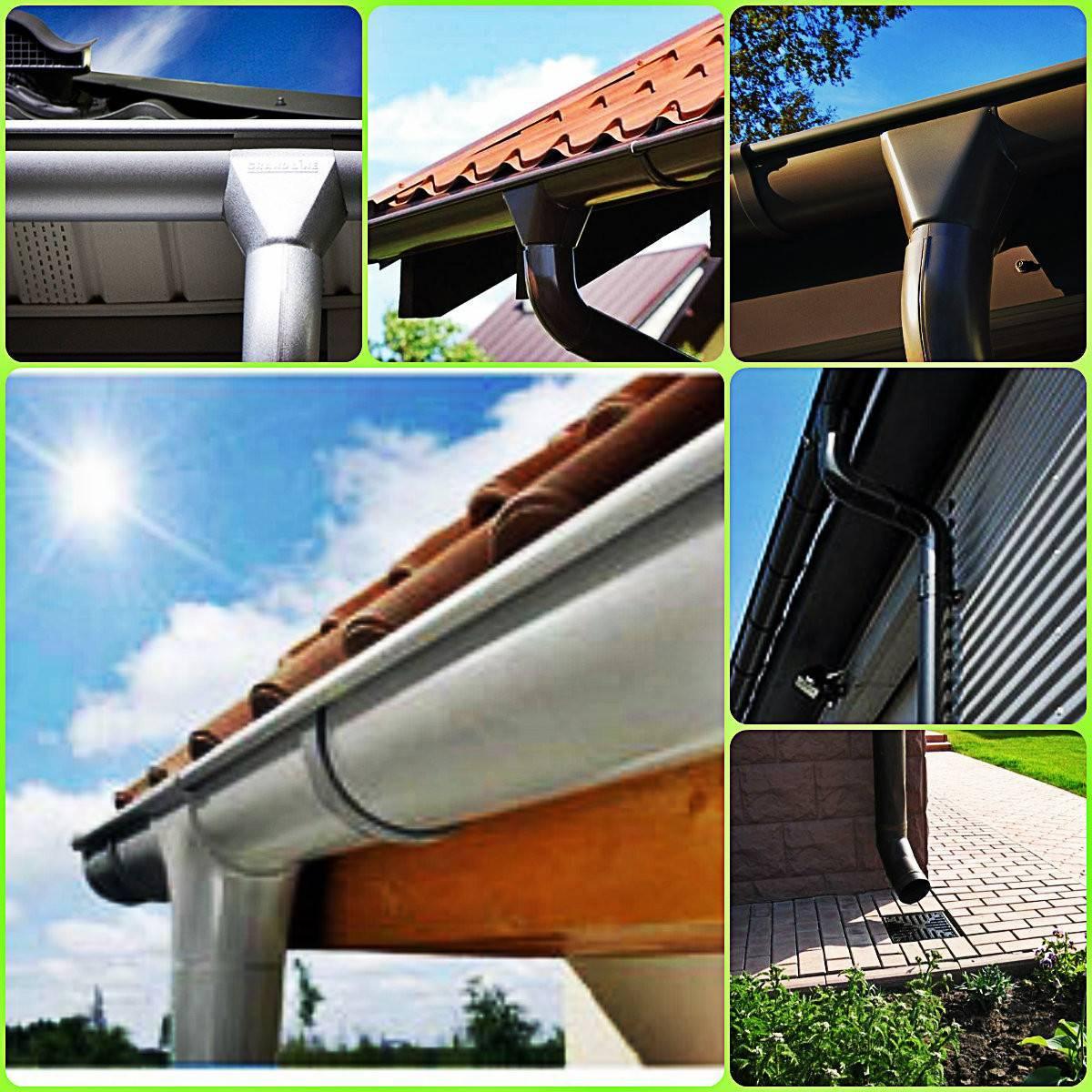 Водосточная система (64 фото): монтаж водостока в кровлю, металлические водосливы для крыши, медный водоотвод