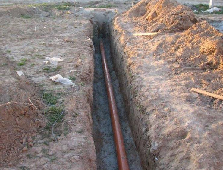 Укладка канализационных труб в землю: подводка к дому, уклон, глубина траншеи