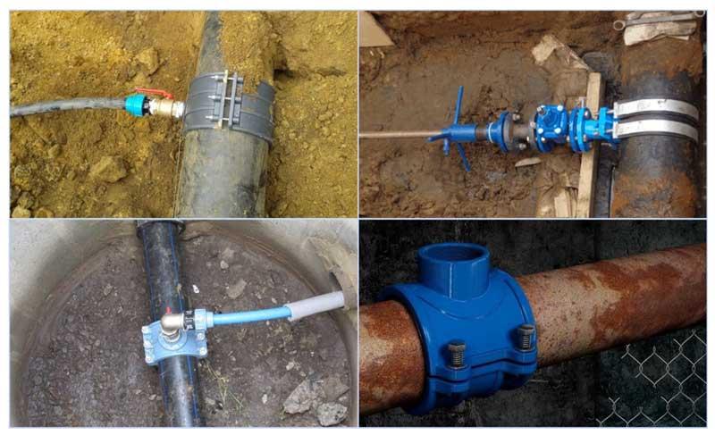 Как сделать врезку в водопровод под давлением своими руками