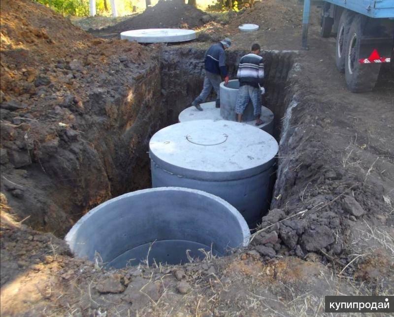 Работа под ключ. септик из бетонных колец под ключ в москве и московской области | septik50