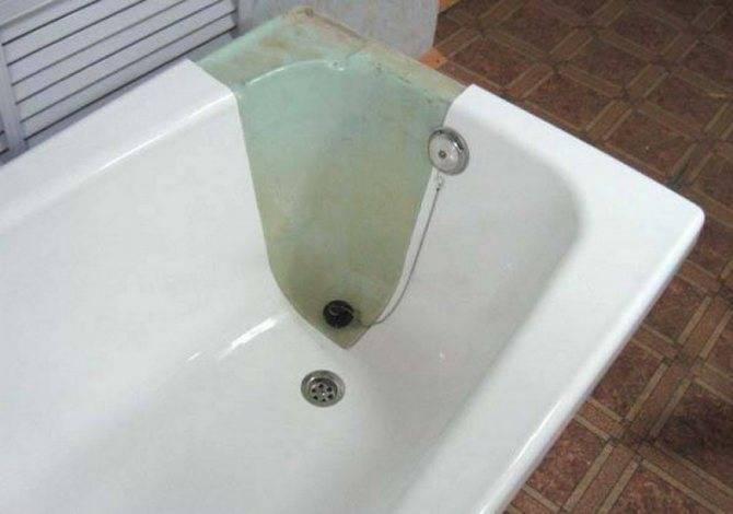 Как восстановить эмаль чугунной ванны своими руками?