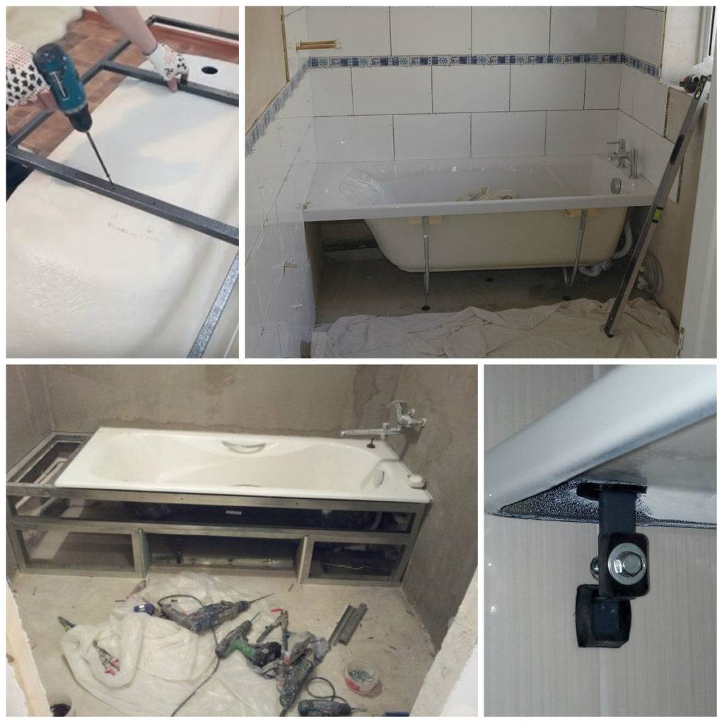 Нюансы установки на каркас акриловой ванны своими руками? 4 главных плюса по сравнению с ножками