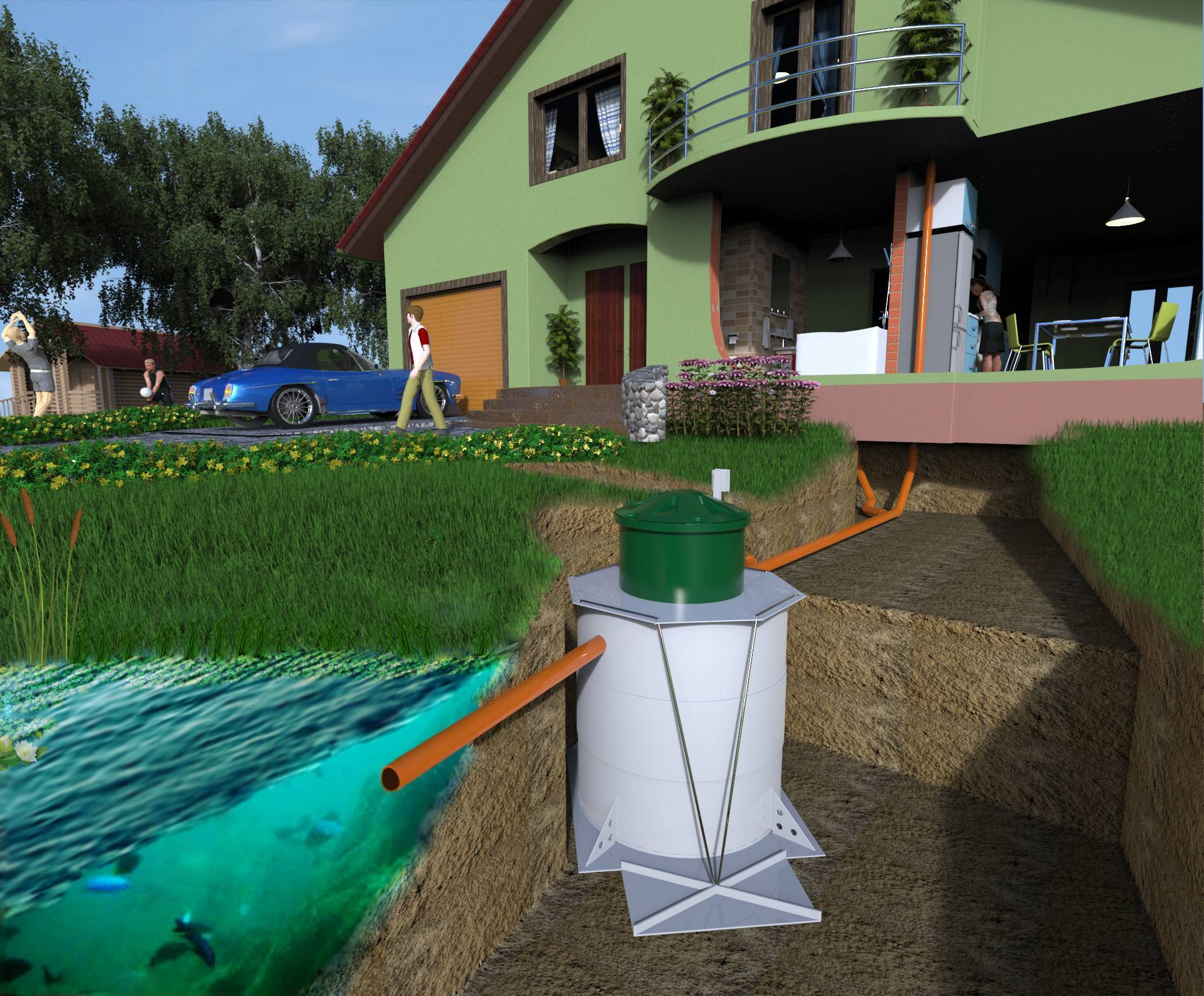 Локальная канализация: для загородного дома, очистные сооружения, система, что это такое, местная мини
