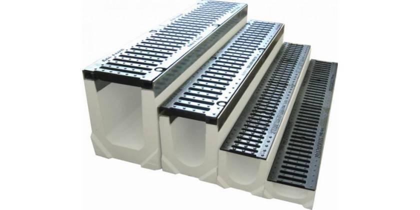 Водоотводные бетонные лотки: технические характеристики и способы монтажа