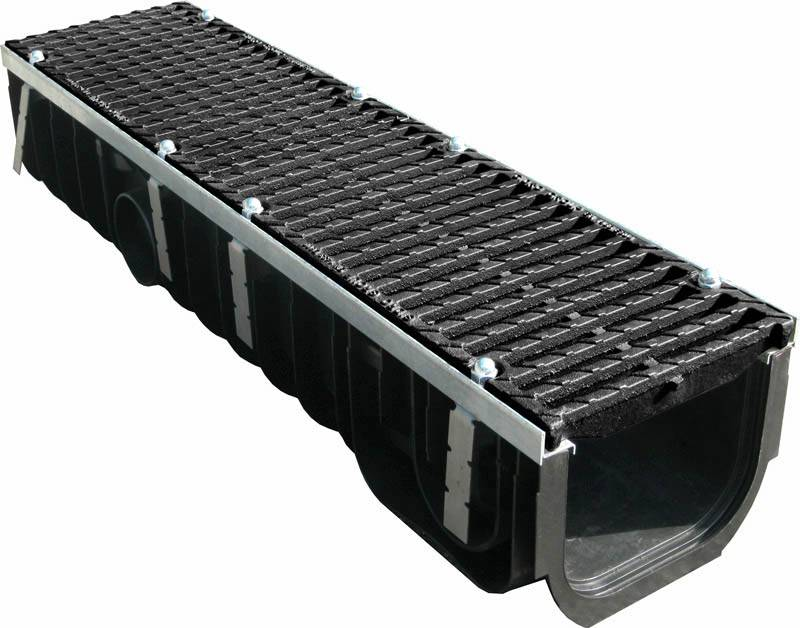 Лотки водоотводные пластиковые: с решеткой стальной, чугунной, цена