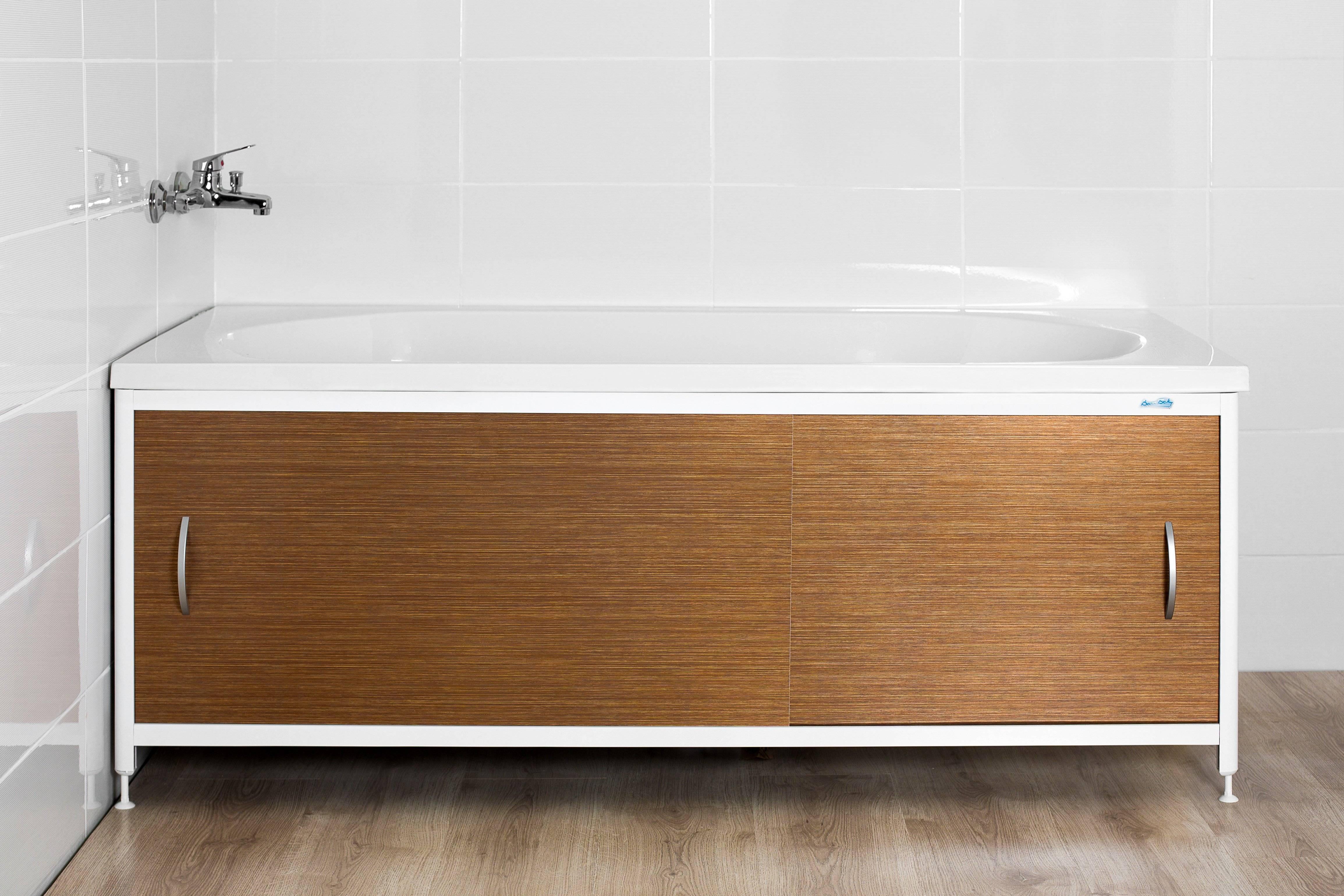 Как крепить экран под ванну своими руками: схемы (фото и видео)