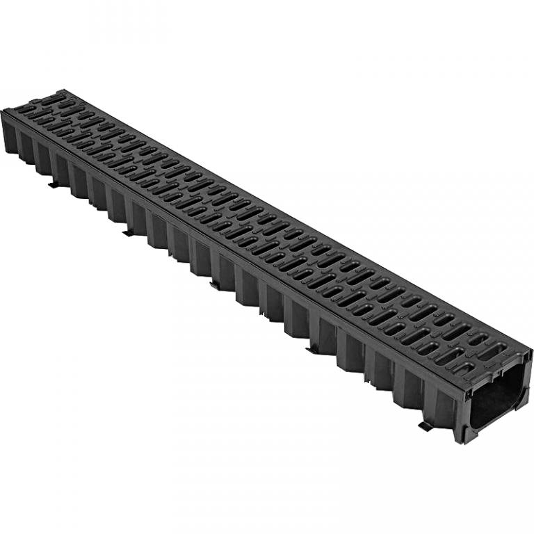 Водоотводный лоток с решетками: пластиковый, бетонный жби, железобетонный, полимерный, чугунный