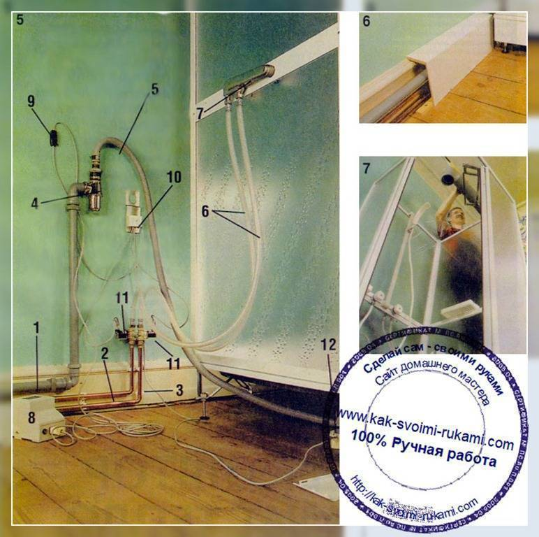 Сборка душевой кабины aquapulse 4102d