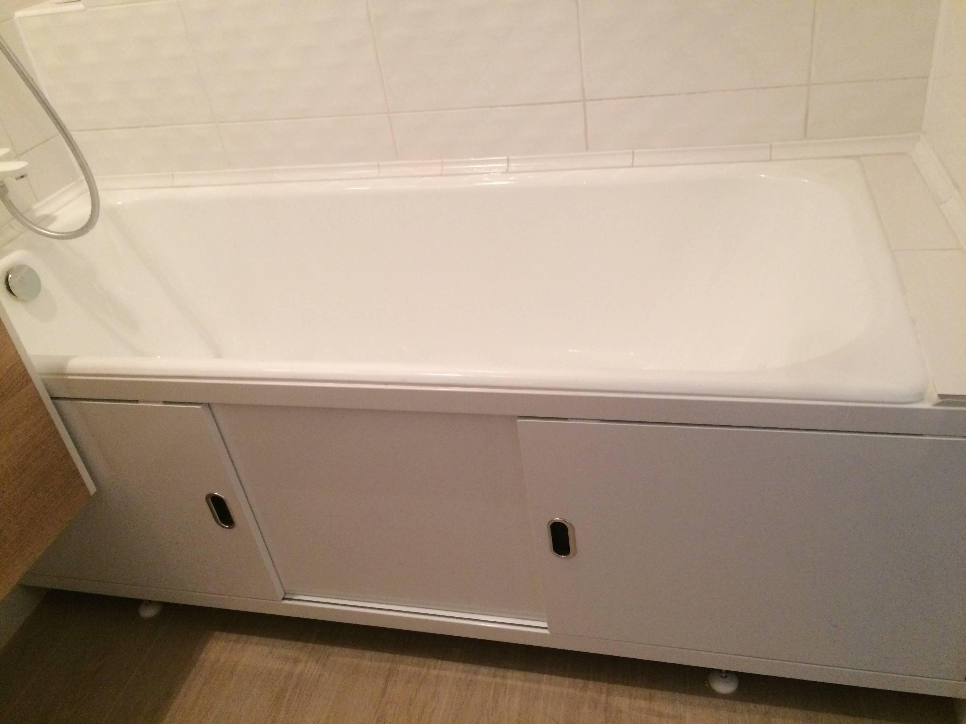 Установка экрана под ванну: как закрепить своими руками