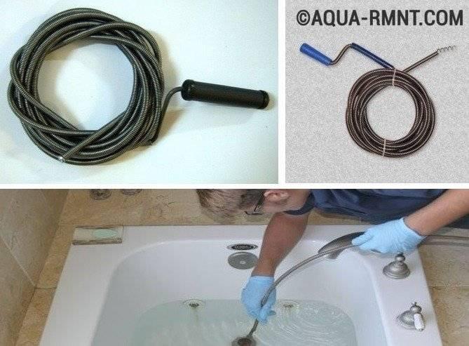 Как прочистить засор в ванной: проверенные методы