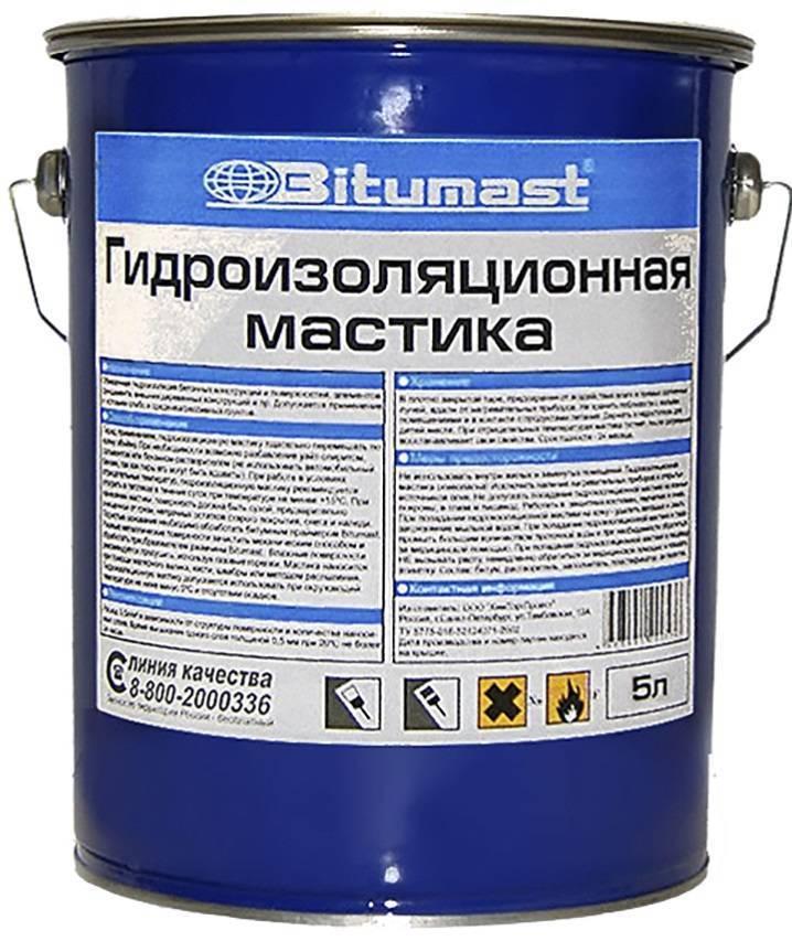 Битумаст гидроизоляционная мастика: область применения, условия хранения и нанесения +видео