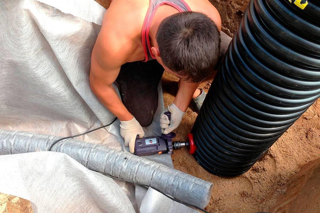Дренажный колодец для септика - все о канализации