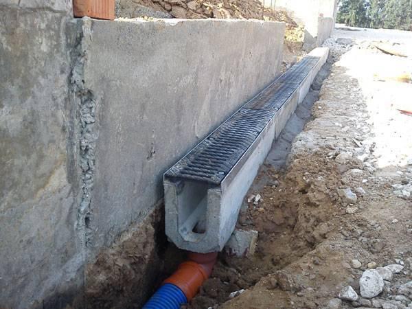 Лотки для ливневой канализации: бетонные, пластиковые, установка, цена