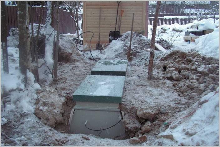 Консервация септика на зиму и установка утепления