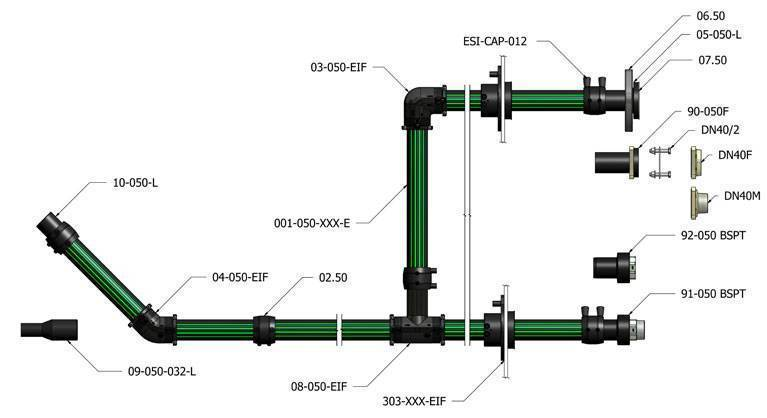 Фасонные части для полиэтиленовых труб канализации