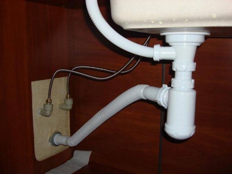 Установка сифона для раковины на кухню: инструкции, советы