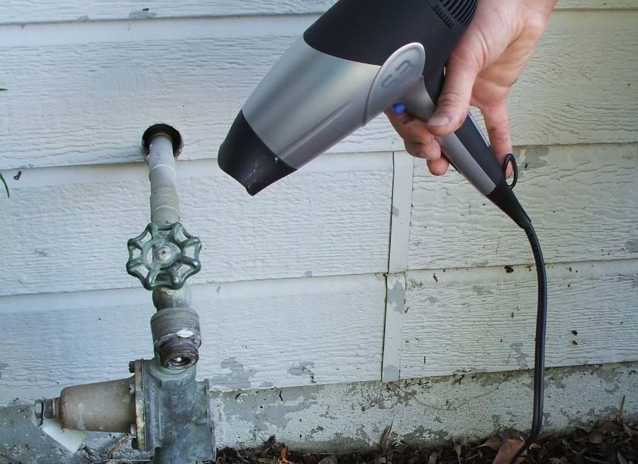 Как разморозить воду в трубе под землей