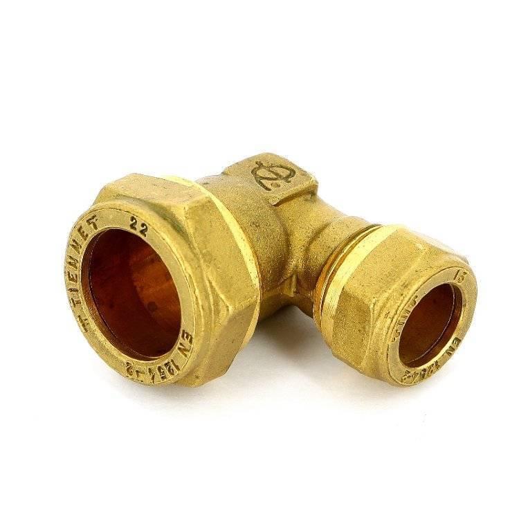 Обжимные фитинги для медных труб для водопровода